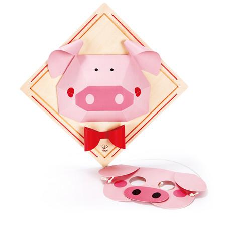 hape 德国 玩具diy小猪立体折纸画e5126早教益智创意新品